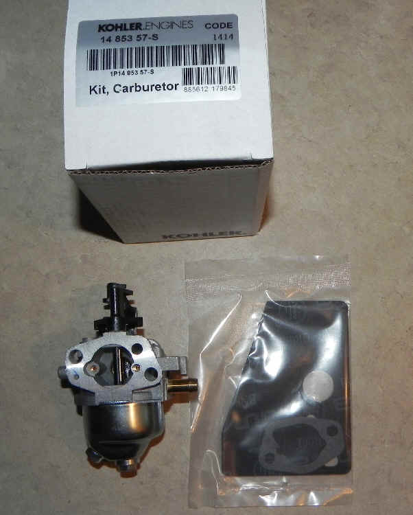 Kohler Carburetor - Part No. 14 853 57-S