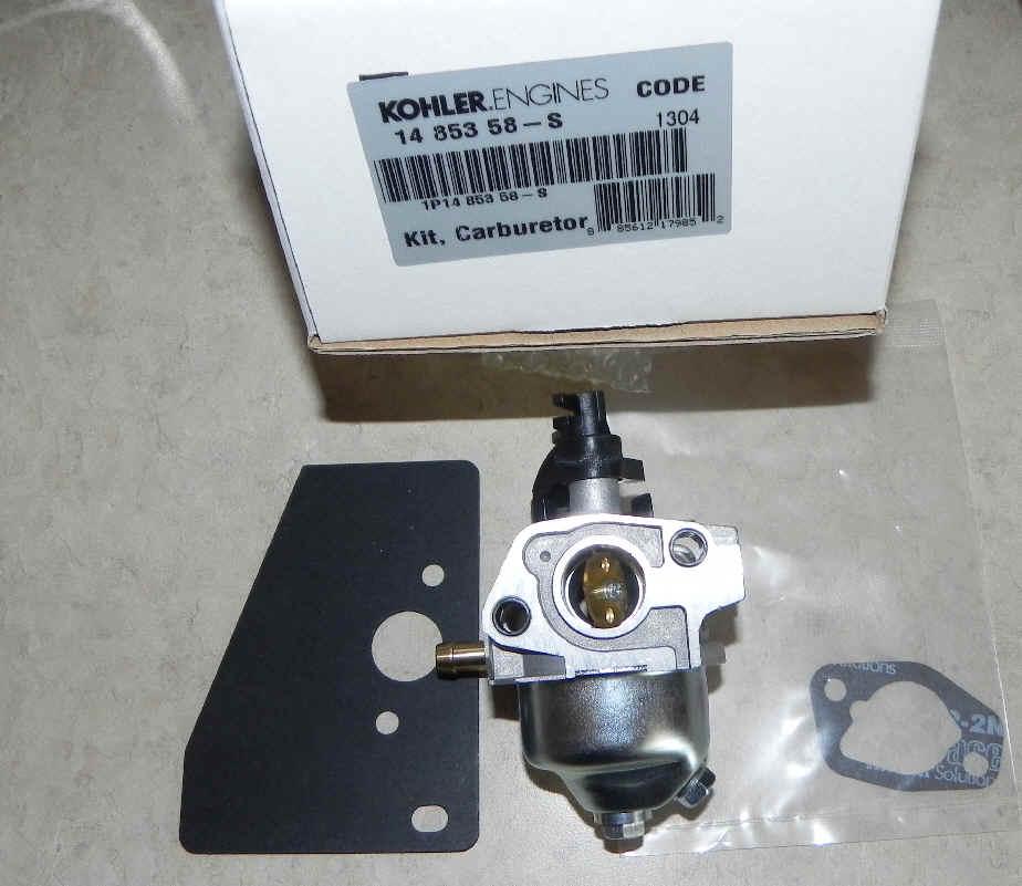 Kohler Carburetor - Part No. 14 853 58-S