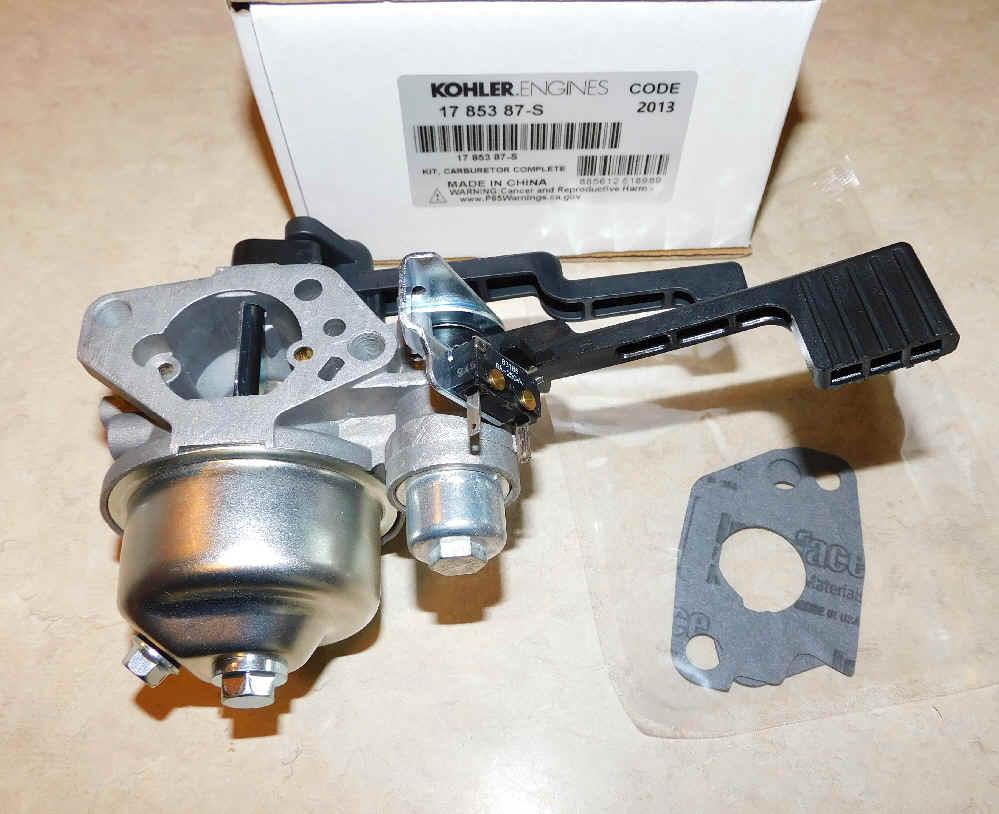 Kohler Carburetor - Part No. 17 853 87-S