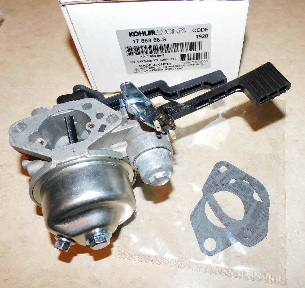 Kohler Carburetor - Part No. 17 853 88-S