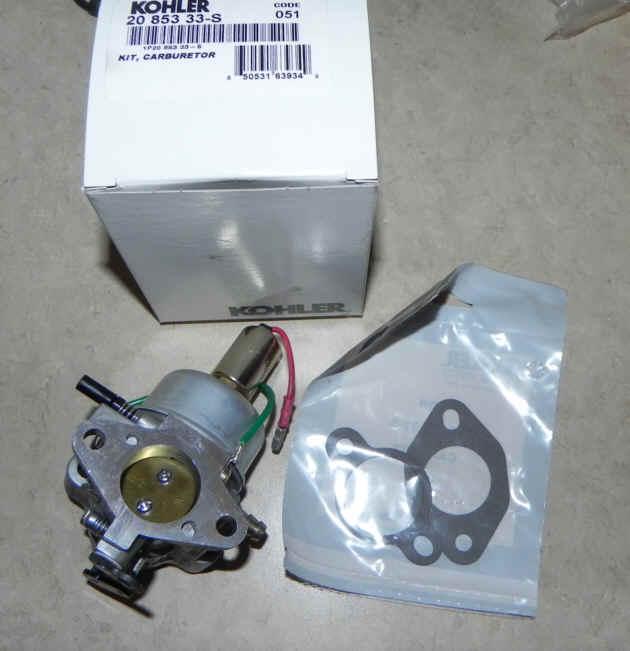 Kohler Carburetor - Part No. 20 853 33-S