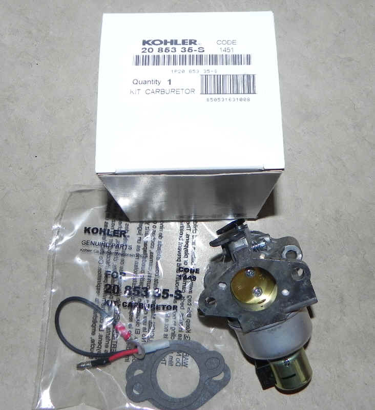 Kohler Carburetor - Part No. 20 853 35-S