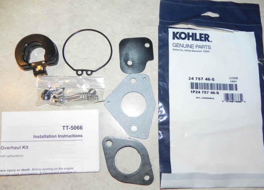 Kohler Carburetor Repair Kit 24 757 46-S
