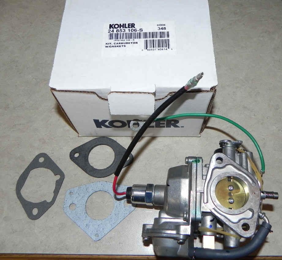 Kohler Carburetor - Part No. 24 853 106-S