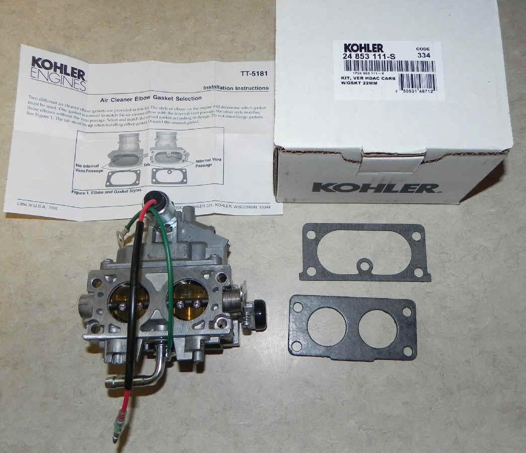Kohler Carburetor - Part No. 24 853 111-S