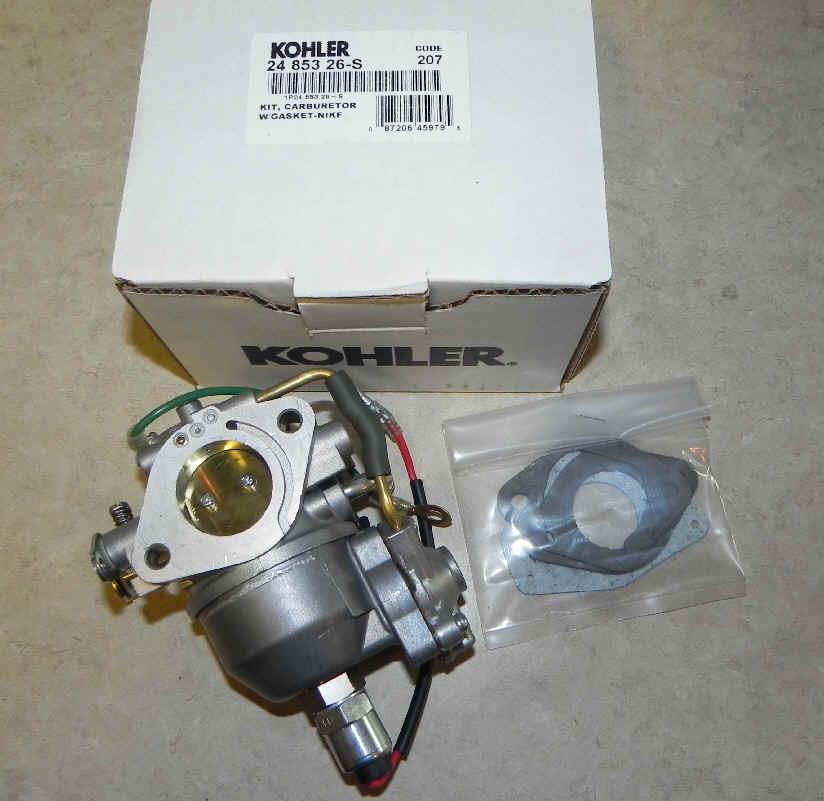 Kohler Carburetor - Part No. 24 853 26-S
