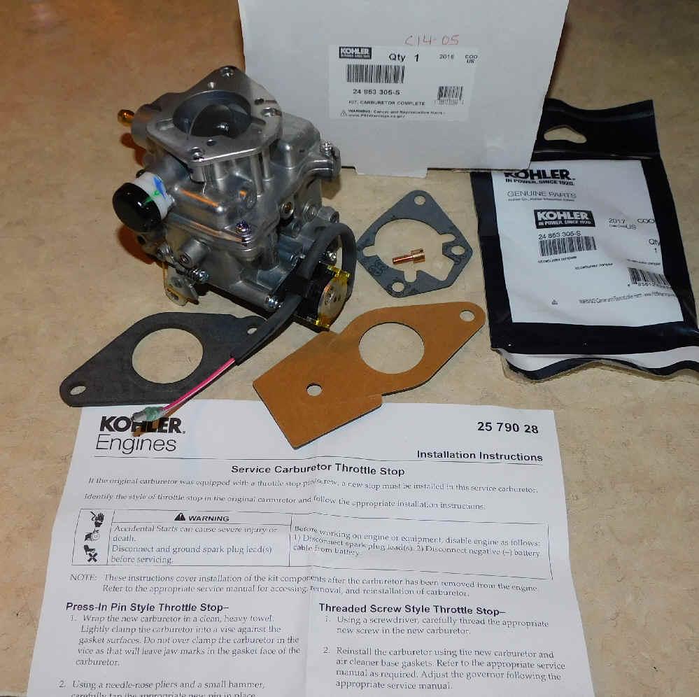 Kohler Carburetor - Part No. 24 853 305-S