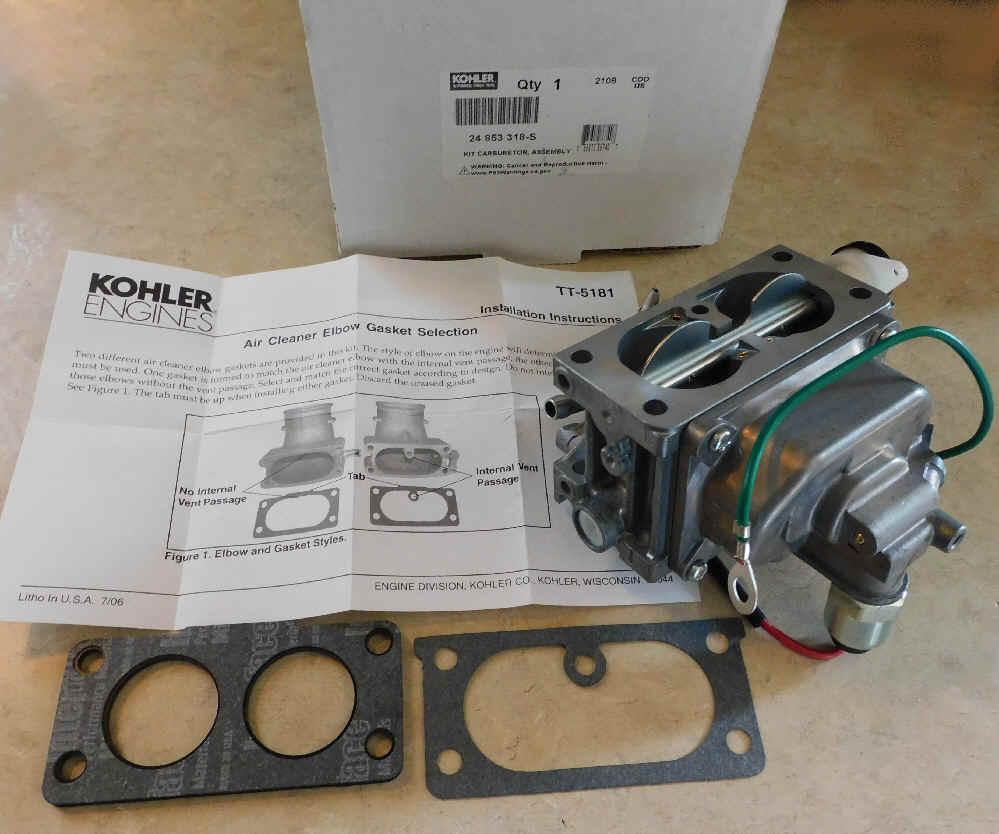 Kohler Carburetor - Part No. 24 853 318-S