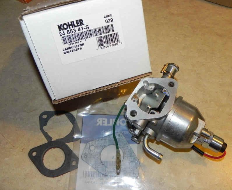 Kohler Carburetor - Part No. 24 853 41-S