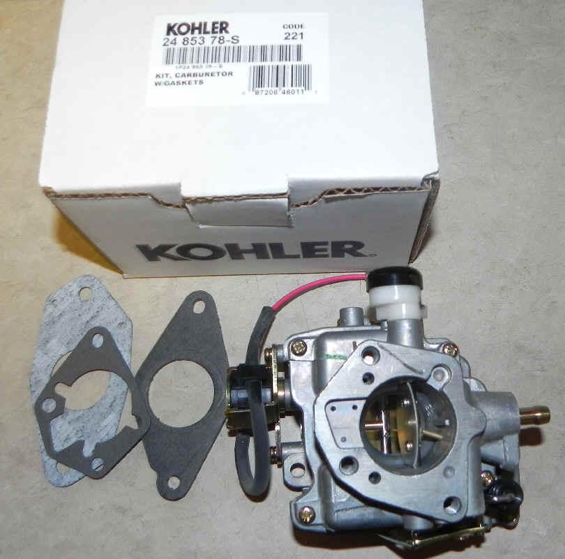 Kohler Carburetor - Part No. 24 853 78-S