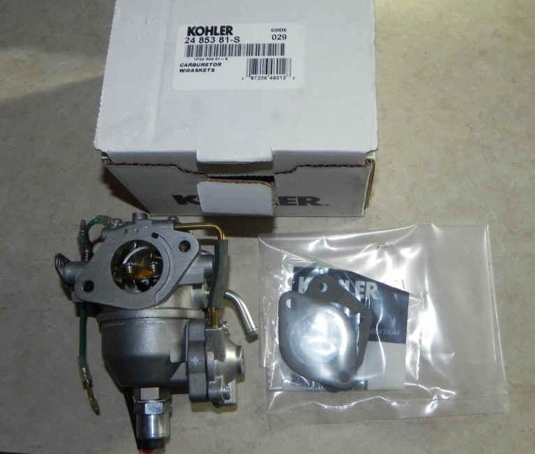 Kohler Carburetor - Part No. 24 853 81-S
