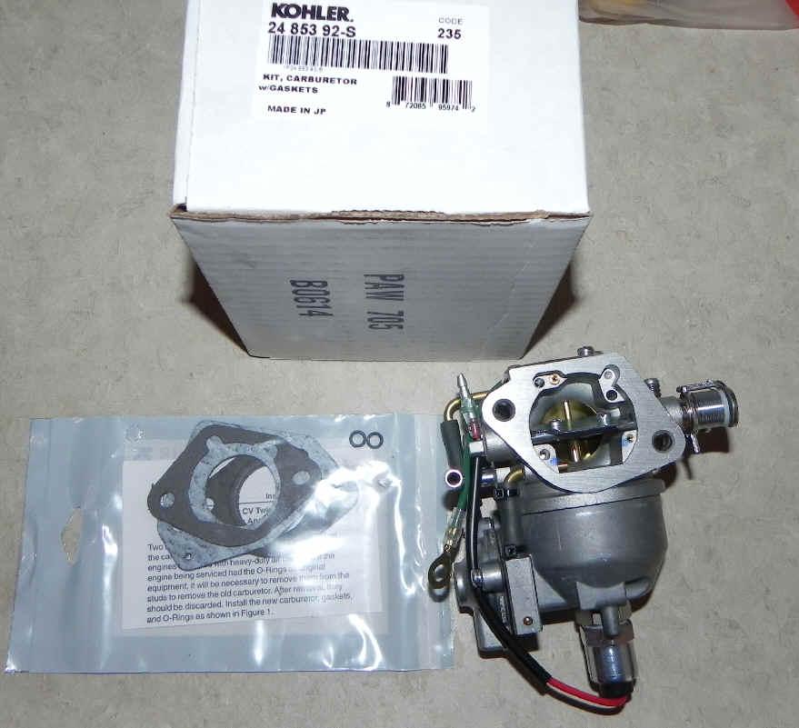 Kohler Carburetor - Part No. 24 853 92-S