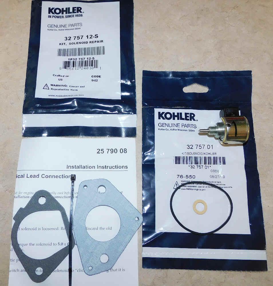 Kohler Solenoid Repair Kit 32 757 12-S