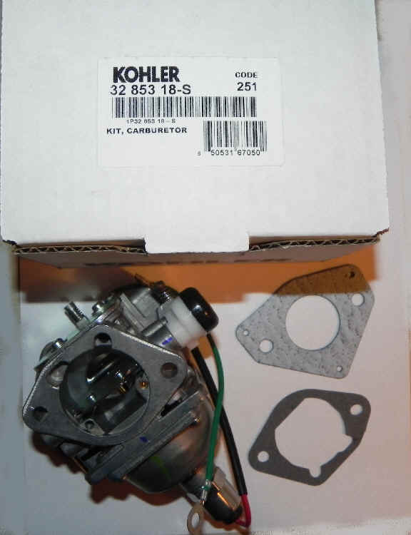 Kohler Carburetor - Part No. 32 853 18-S