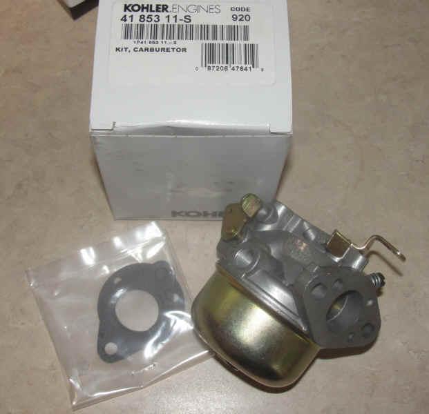 Kohler Carburetor - Part No. 41 853 11-S