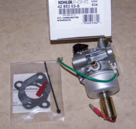 Kohler Carburetor - Part No. 42 853 03-S