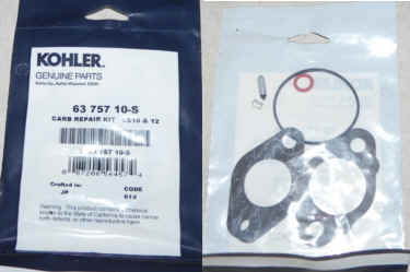 Kohler Carburetor Repair Kit 63 757 10-S
