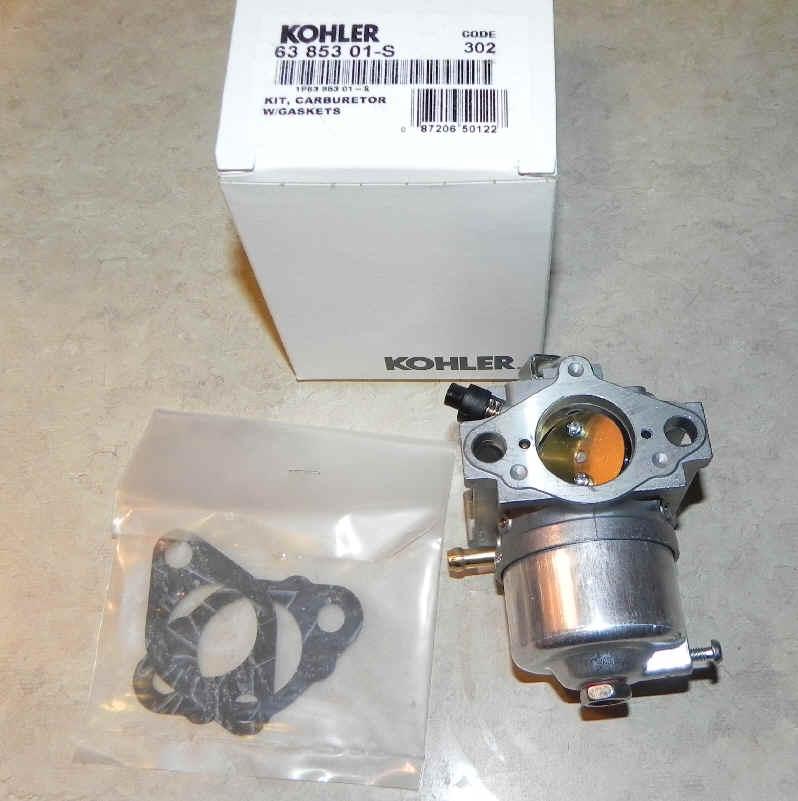 Kohler Carburetor - Part No. 63 853 01-S