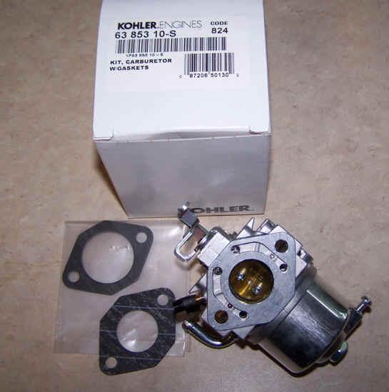 Kohler Carburetor - Part No. 63 853 10-S