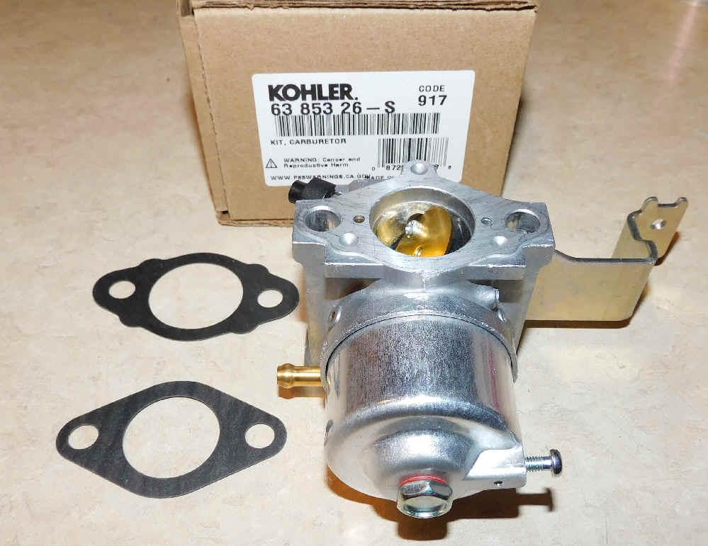 Kohler Carburetor - Part No. 63 853 26-S