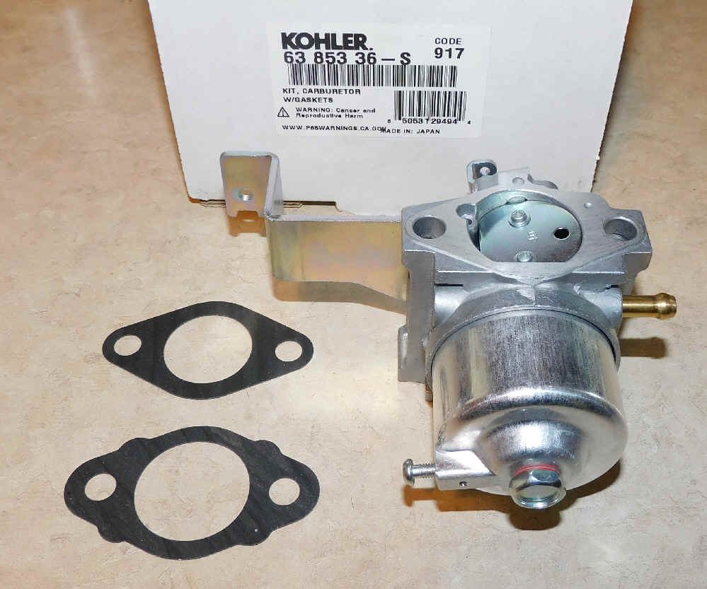 Kohler Carburetor - Part No. 63 853 36-S