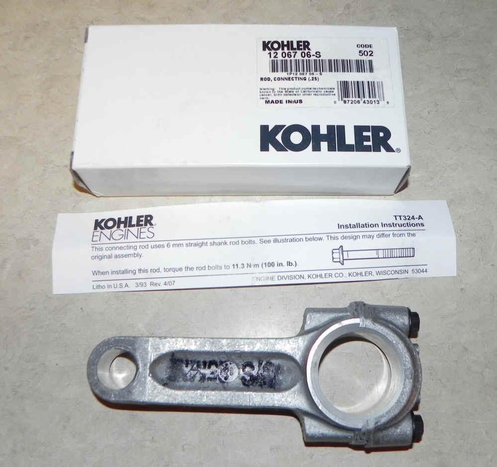 Kohler Connecting Rod - Part No. 12 067 06-S  25 Under Rod