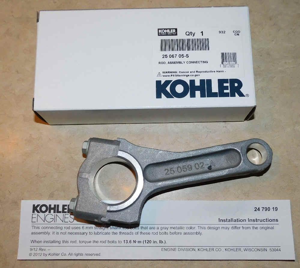 Kohler Connecting Rod - Part No. 25 067 05-S  25 Under Rod