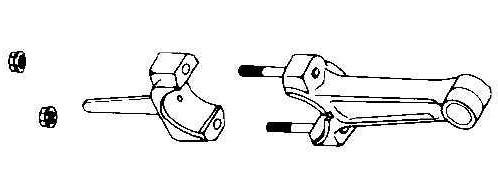 Kohler Connecting Rod - Part No. 45 067 25-S  10 Under Rod