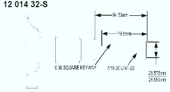 Kohler Crankshaft - Part No. 12 014 32-S