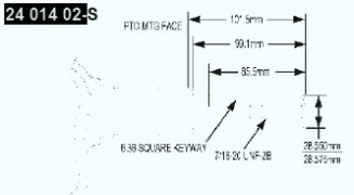 Kohler Crankshaft - Part No. 24 014 345-S