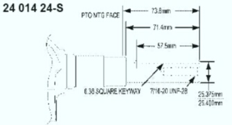 Kohler Crankshaft - Part No. 24 014 356-S