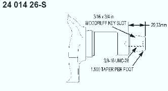 Kohler Crankshaft - Part No. 24 014 357-S