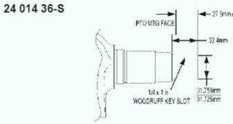 Kohler Crankshaft - Part No. 24 014 362-S