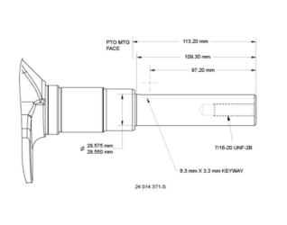Kohler Crankshaft - Part No. 24 014 371-S