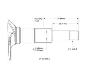 Kohler Crankshaft - Part No. 24 014 385-S