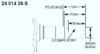 Kohler Crankshaft - Part No. 24 014 363-S