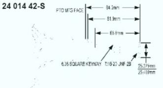 Kohler Crankshaft - Part No. 24 014 364-S
