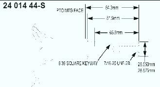 Kohler Crankshaft - Part No. 24 014 365-S