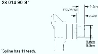 Kohler Crankshaft - Part No. 28 014 90-S