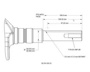 Kohler Crankshaft - Part No. 32 014 301-S