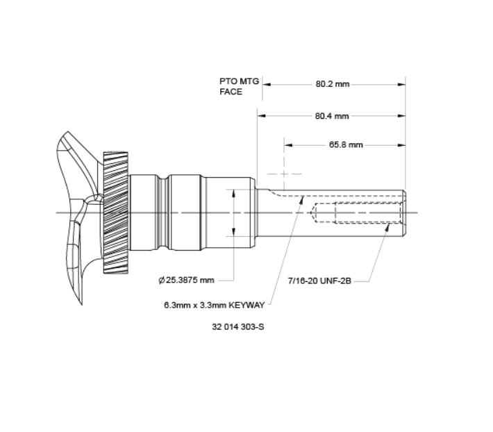 Kohler Crankshaft - Part No. 32 014 303-S
