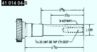 Kohler Crankshaft - Part No. 41 014 04-S