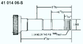 Kohler Crankshaft - Part No. 41 014 06-S