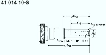 Kohler Crankshaft - Part No. 41 014 10-S