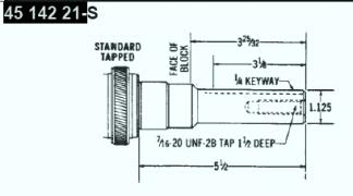 Kohler Crankshaft - Part No. 45 142 21-S