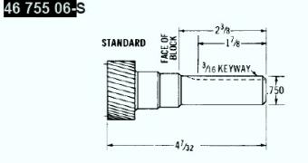 Kohler Crankshaft - Part No. 46 755 06-S