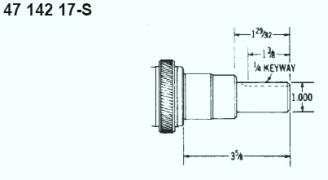Kohler Crankshaft - Part No. 47 142 17-S