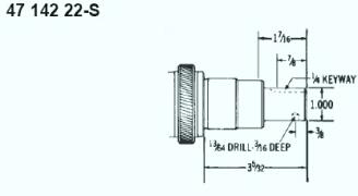 Kohler Crankshaft - Part No. 47 142 22-S