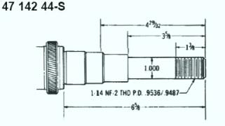 Kohler Crankshaft - Part No. 47 142 44-S