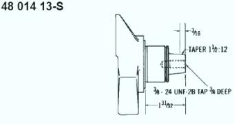 Kohler Crankshaft - Part No. 48 014 13-S